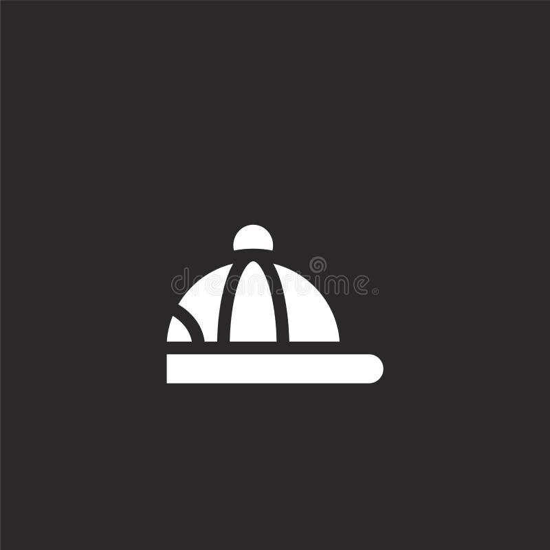 icône de casquette Icône d'affichage rempli pour la conception de sites Web et le développement d'applications mobiles icône de l illustration de vecteur