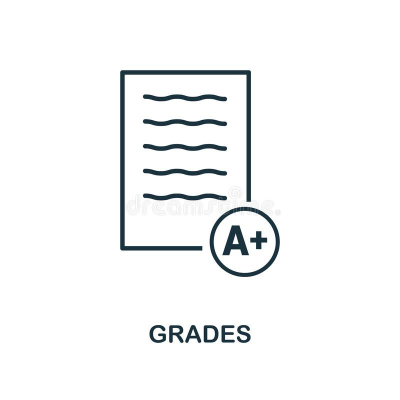 Icône de catégories Conception monochrome d'icône de style de collection d'icône d'école Ui Illustration d'icône de catégories Pi illustration stock