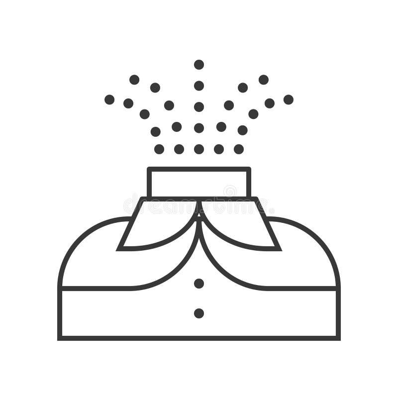 Icône de cavalier sans tête, course editable de caractère de Halloween illustration de vecteur