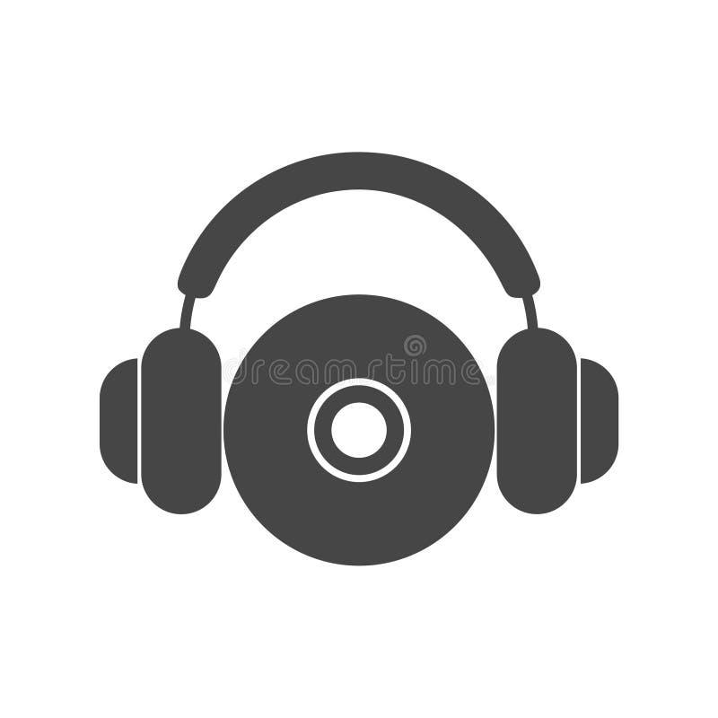 Icône de CD ou de DVD, symbole de disque compact illustration libre de droits