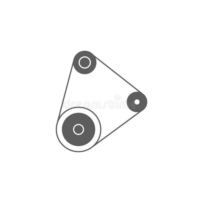 Icône de ceinture de moteur de voiture Éléments d'icône de réparation de voiture Conception graphique de qualité de la meilleure  illustration stock
