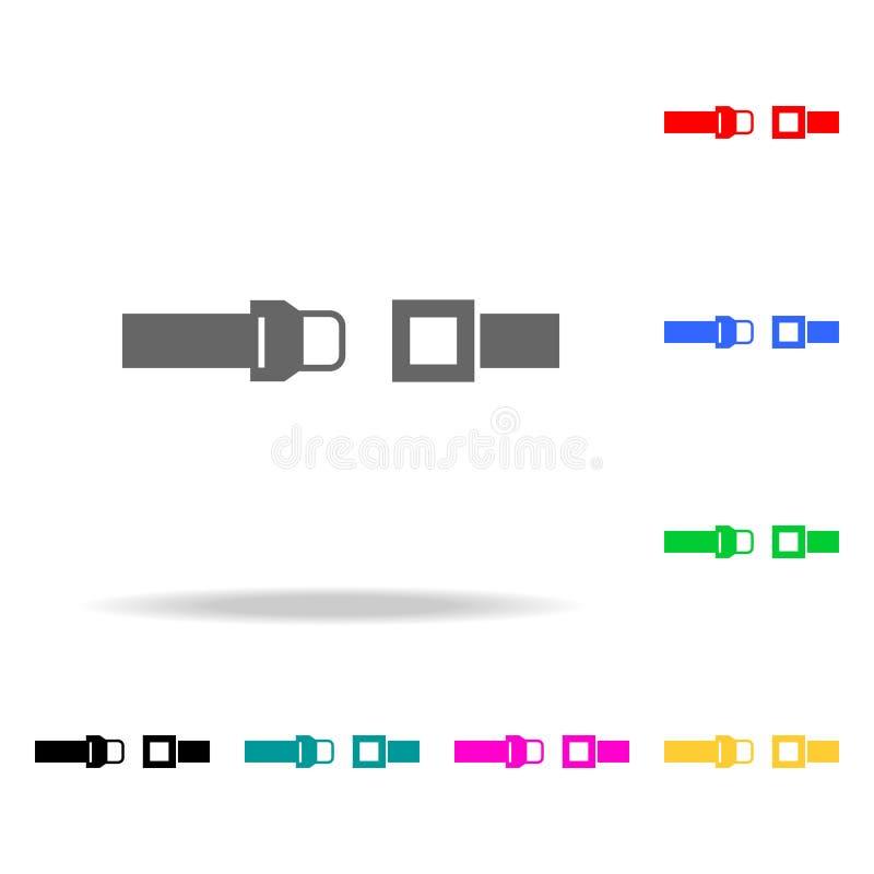 Icône de ceinture de sécurité Éléments des icônes colorées multi d'aéroport Icône de la meilleure qualité de conception graphique illustration de vecteur