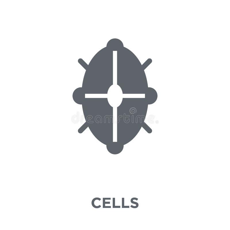 Icône de cellules de collection de la Science illustration stock