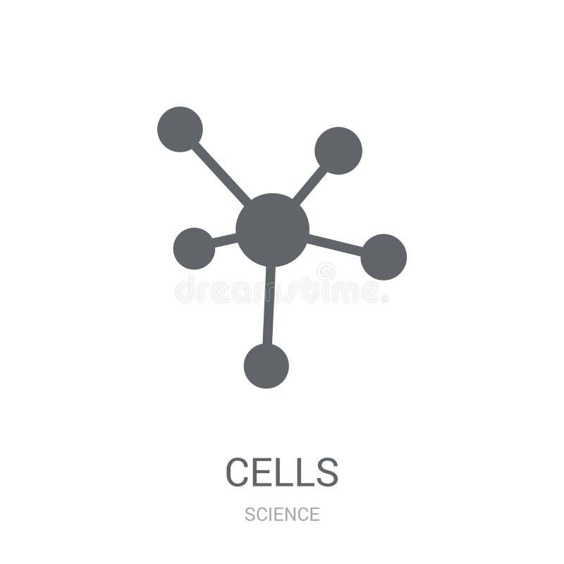 Icône de cellules Concept à la mode de logo de cellules sur le fond blanc de S illustration de vecteur