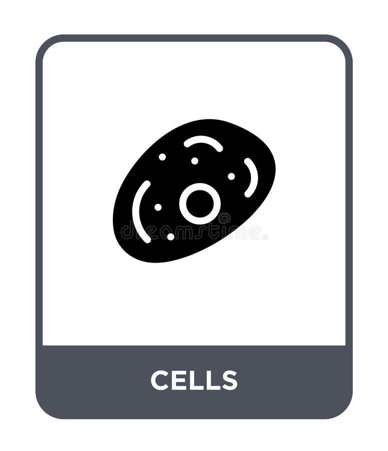 icône de cellules dans le style à la mode de conception icône de cellules d'isolement sur le fond blanc symbole plat simple et mo illustration libre de droits