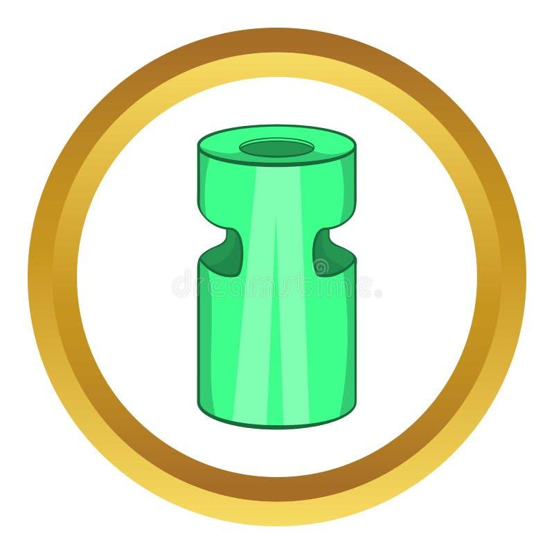 Icône de cendrier de déchets illustration libre de droits
