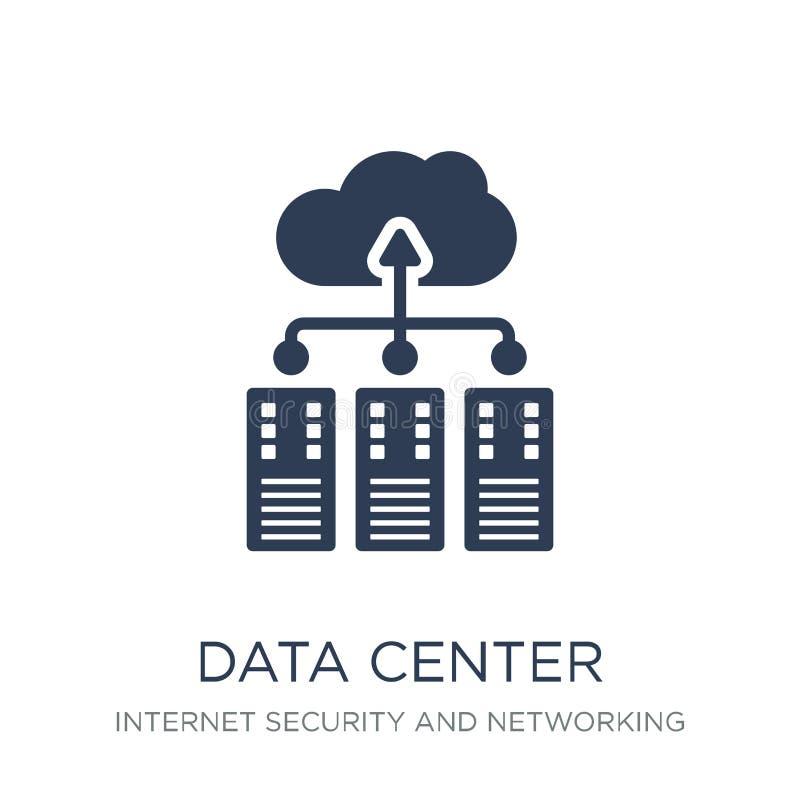 Icône de centre de traitement des données Icône plate à la mode de centre de traitement des données de vecteur sur b blanc illustration de vecteur