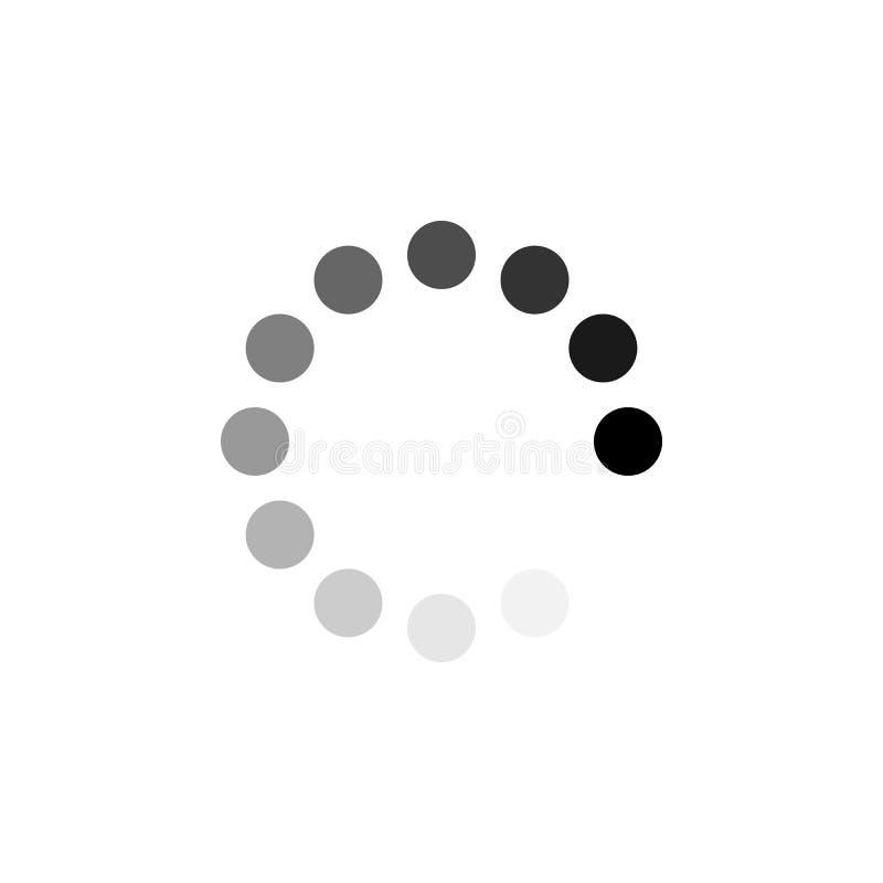 Icône de cercle de chargement Illustration de vecteur, conception plate illustration de vecteur
