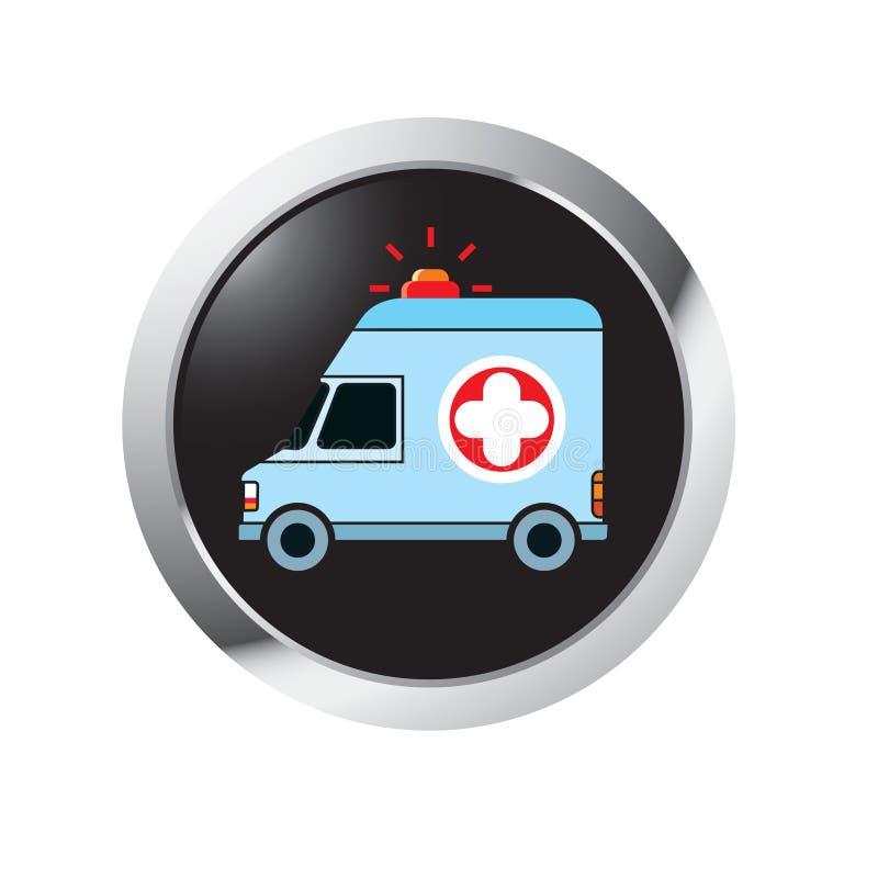 Icône de cercle d'ambulance en couleurs illustration stock