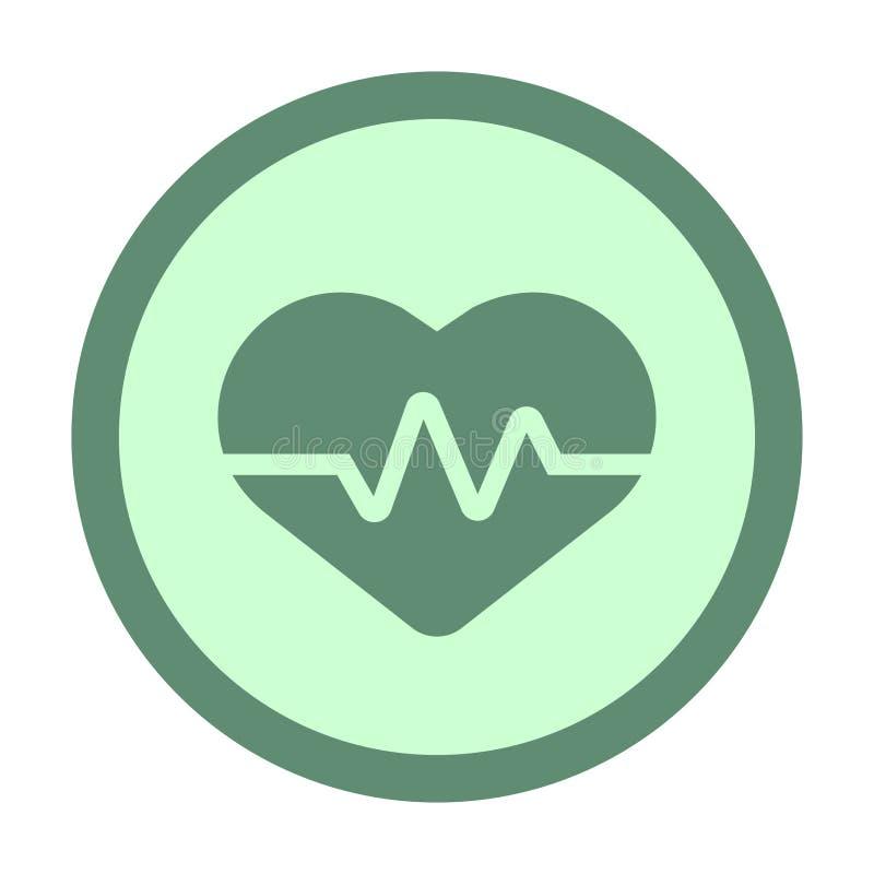 icône de cercle d'impulsion de coeur illustration libre de droits