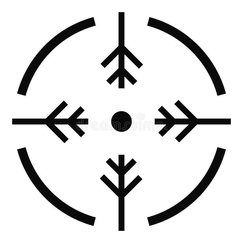 Icône de cercle de pousse, style simple illustration stock
