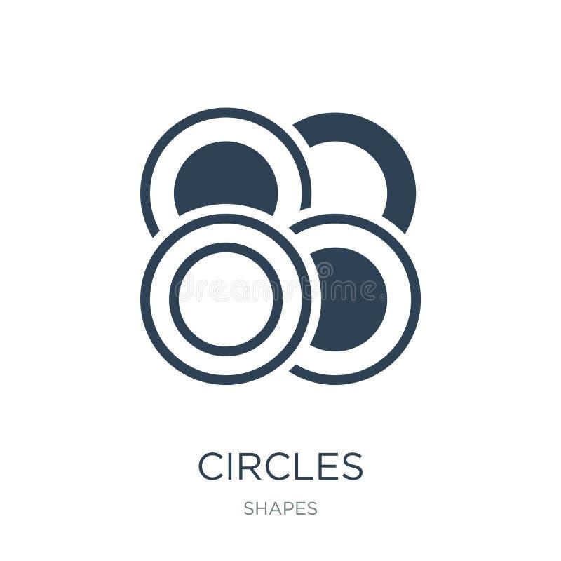 icône de cercles dans le style à la mode de conception icône de cercles d'isolement sur le fond blanc symbole plat simple et mode illustration libre de droits