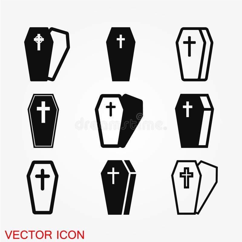 Icône de cercueil illustration stock