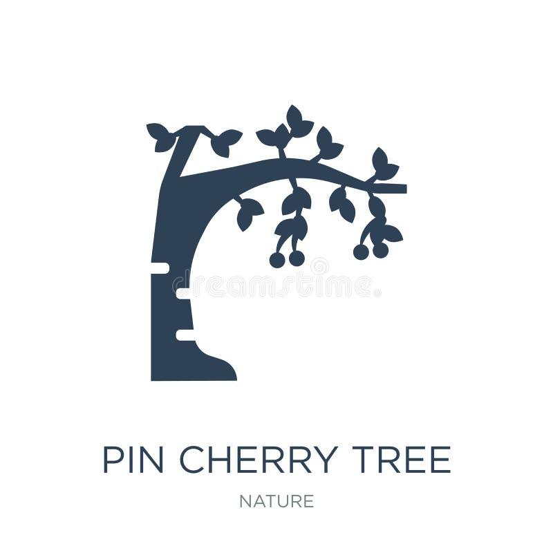 icône de cerisier de goupille dans le style à la mode de conception icône de cerisier de goupille d'isolement sur le fond blanc i illustration de vecteur