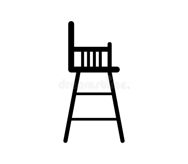 Icône de chaise de bébé illustration de vecteur