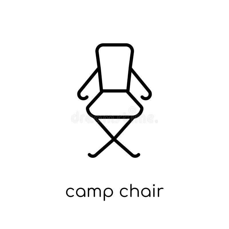 icône de chaise de camp de la collection campante illustration de vecteur