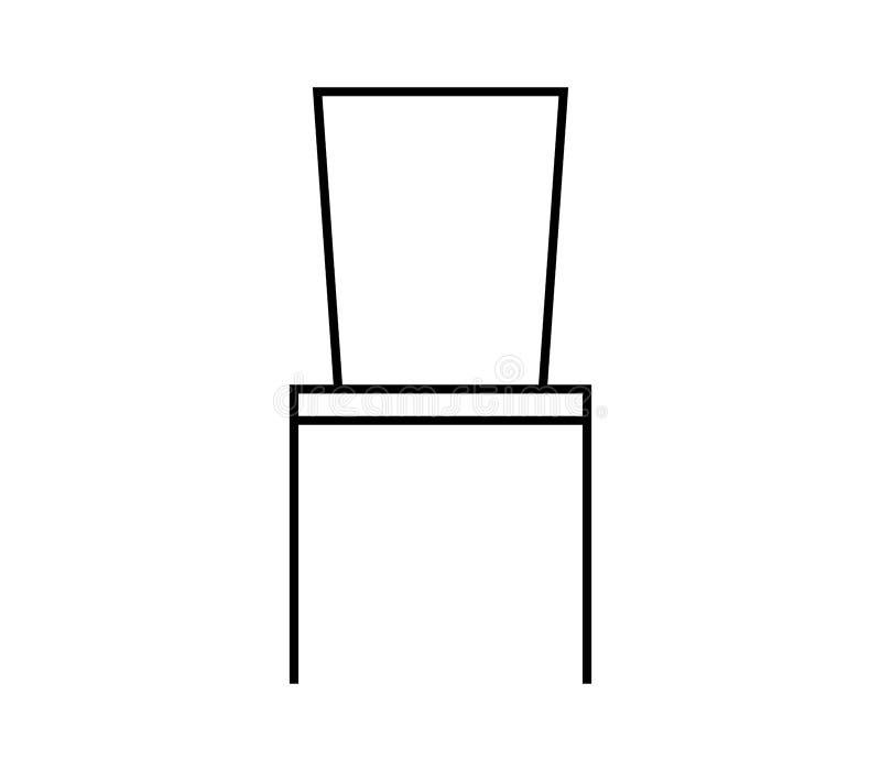Icône de chaise illustrée illustration de vecteur