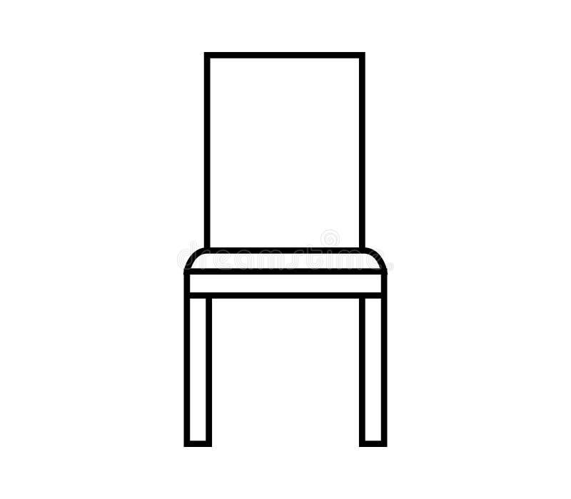 Icône de chaise illustrée illustration libre de droits