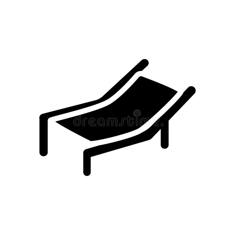 Icône de chaise de plage  illustration de vecteur