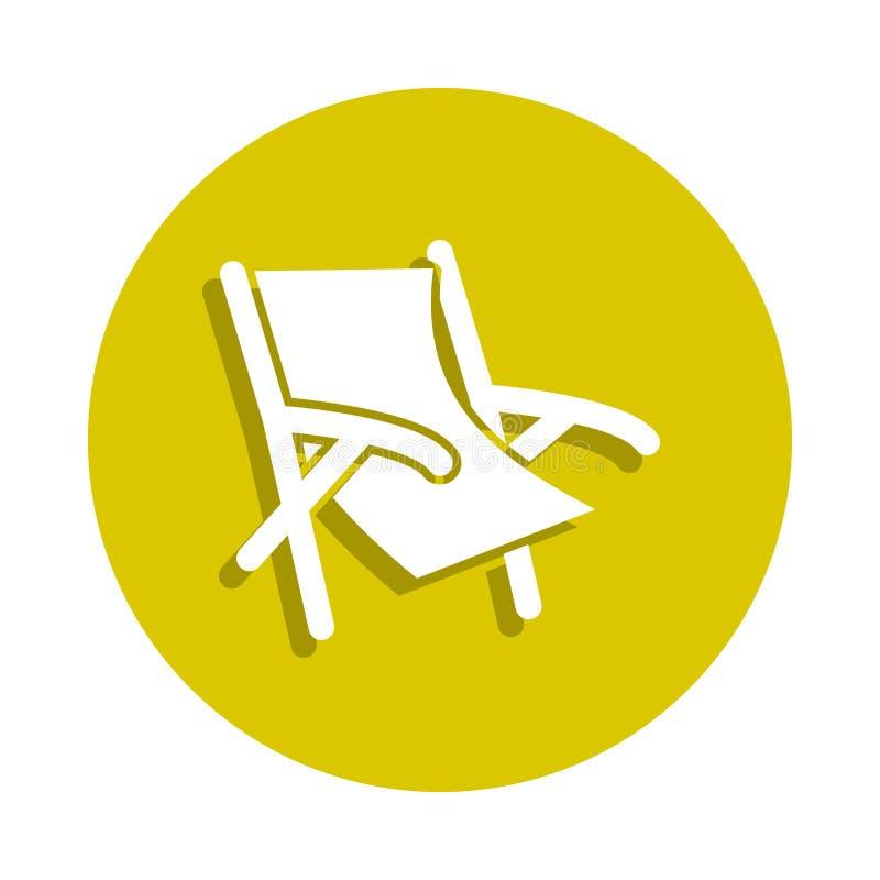 icône de chaise de plage dans le style d'insigne Un de l'icône de collection de plage de sheashell peut être employé pour UI, UX illustration libre de droits