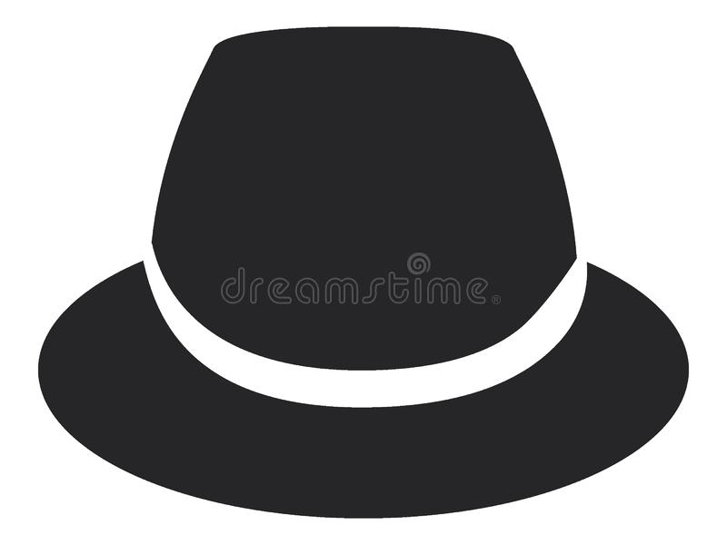 Icône de chapeau illustration de vecteur