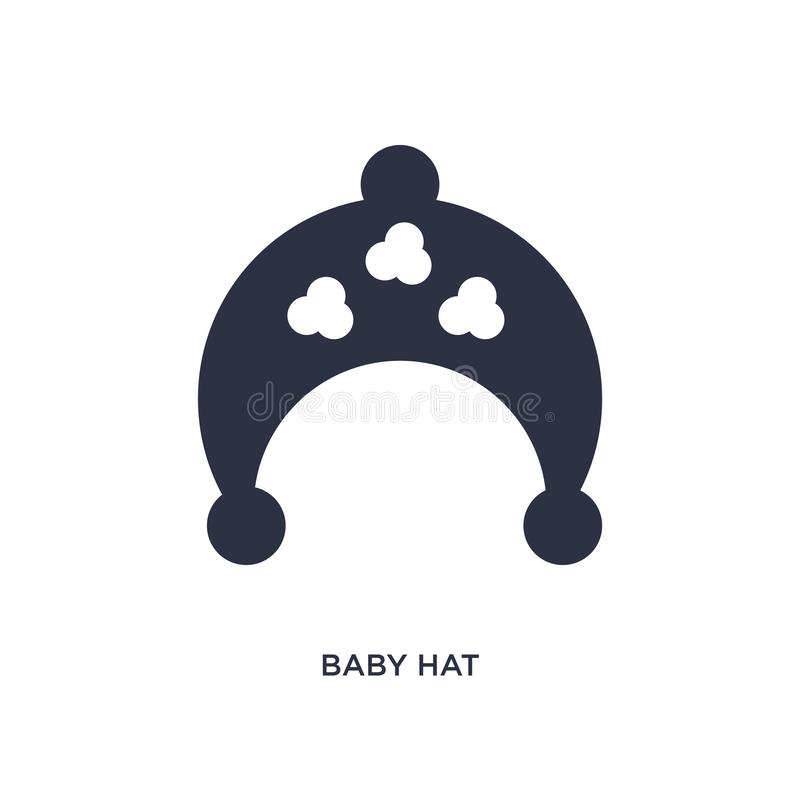 icône de chapeau de bébé sur le fond blanc Illustration simple d'élément de concept d'enfant et de bébé illustration de vecteur