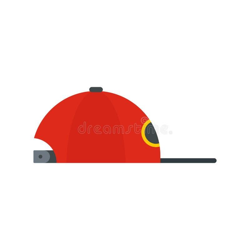 Icône de chapeau de coup sec et dur, style plat illustration de vecteur