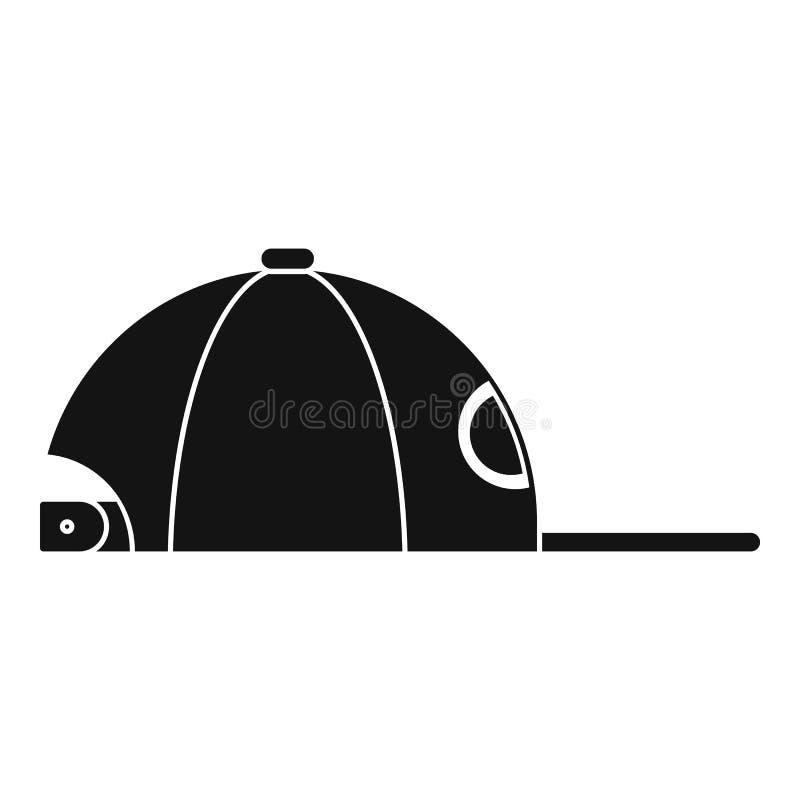 Icône de chapeau de coup sec et dur, style simple illustration de vecteur