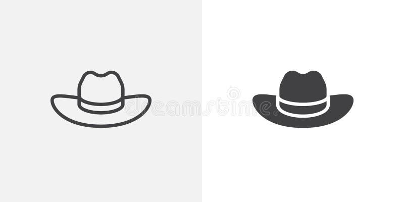 Icône de chapeau de cowboy illustration de vecteur