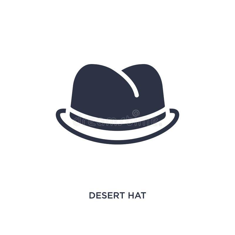 icône de chapeau de désert sur le fond blanc Illustration simple d'élément de concept de désert illustration stock