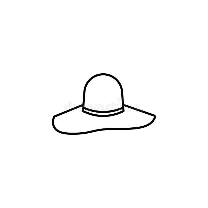 icône de chapeau de roue Élément d'icône de chapeau pour des applis mobiles de concept et de Web La ligne mince icône de chapeau  illustration de vecteur