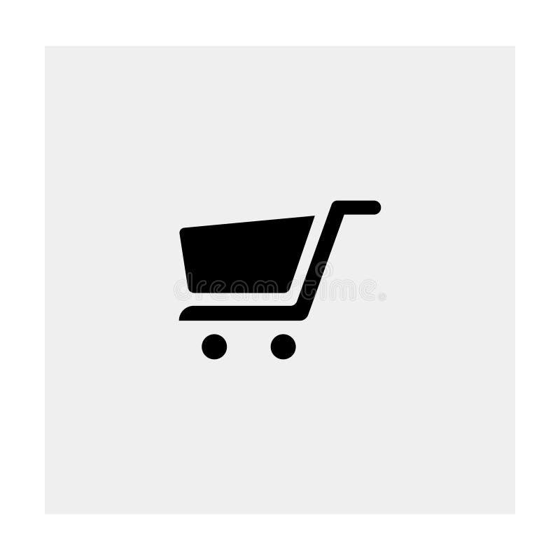 Icône de chariot à achats Fond gris Illustration de vecteur illustration de vecteur