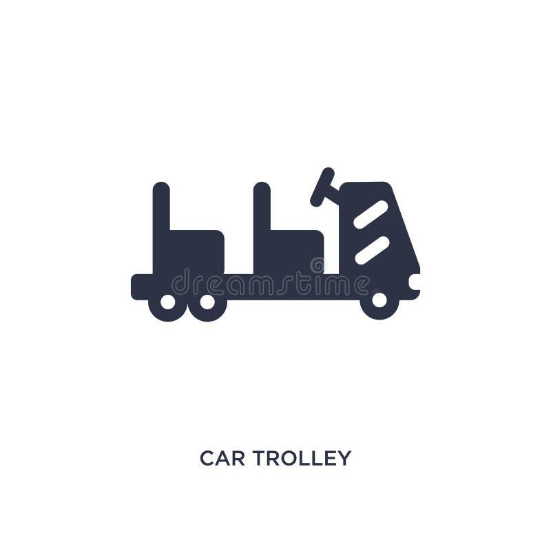 icône de chariot à voiture sur le fond blanc Illustration simple d'élément de concept de terminal d'aéroport illustration libre de droits