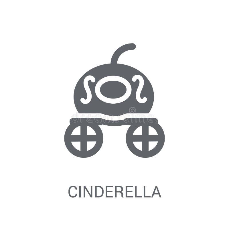Icône de chariot de Cendrillon Concep à la mode de logo de chariot de Cendrillon illustration stock