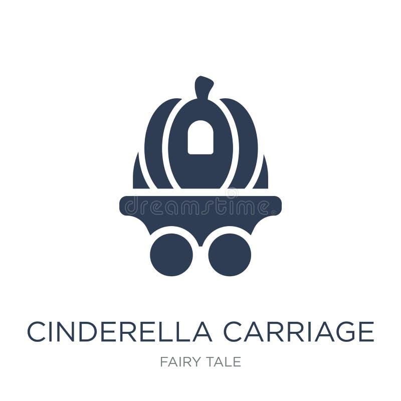 Icône de chariot de Cendrillon Chariot plat à la mode de Cendrillon de vecteur illustration libre de droits