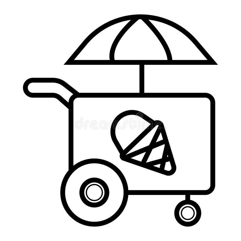 Icône de chariot de crème glacée  illustration libre de droits