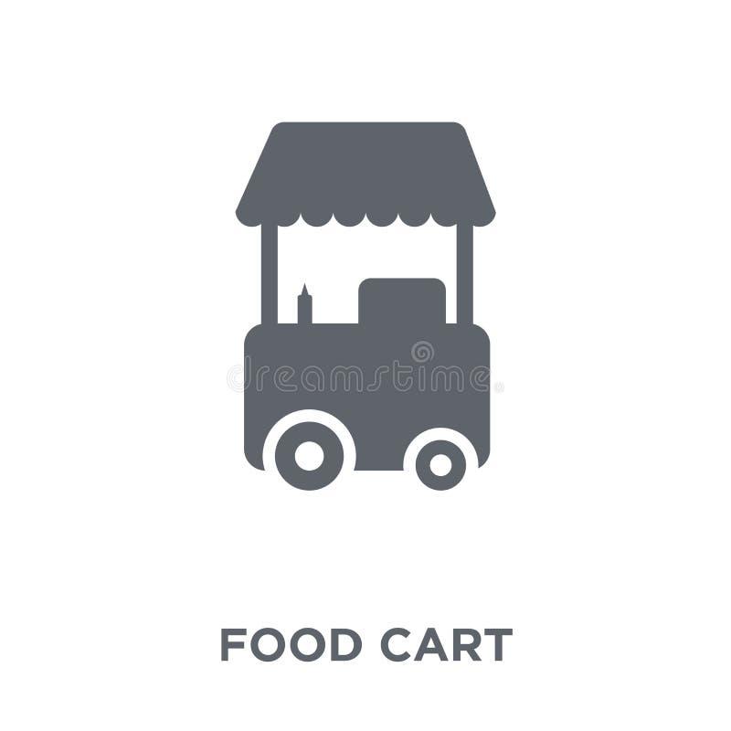 Icône de chariot de nourriture de collection de cirque illustration libre de droits