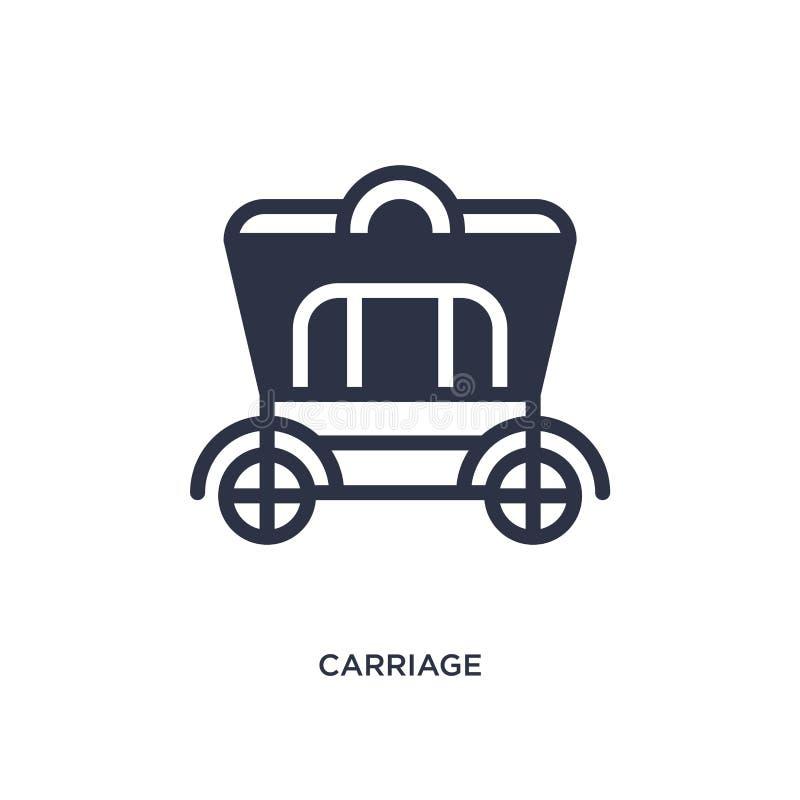icône de chariot sur le fond blanc Illustration simple d'élément de concept occidental sauvage illustration de vecteur