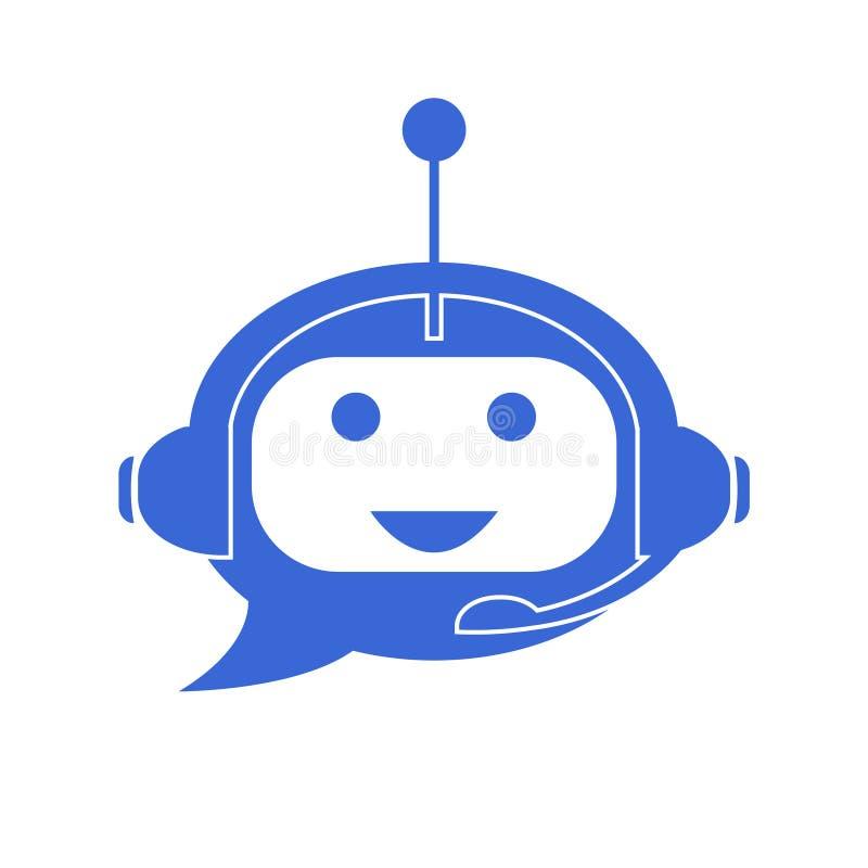 Icône de Chatbot Assistant virtuel illustration de vecteur