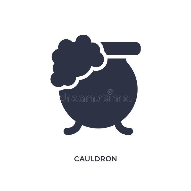 icône de chaudron sur le fond blanc Illustration simple d'élément de concept magique illustration stock