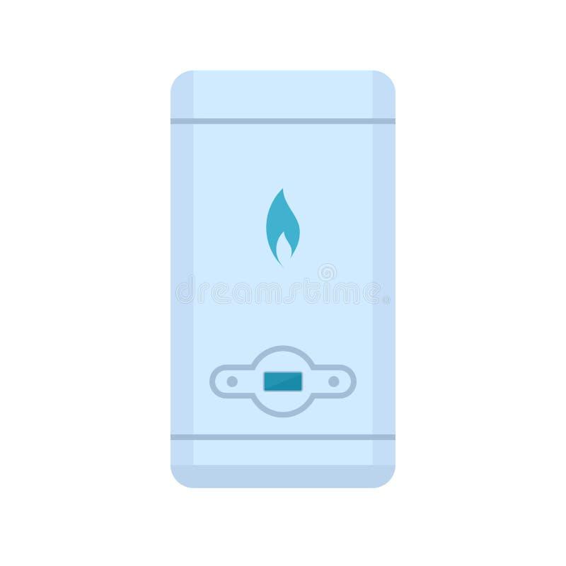 Icône de chauffe-eau de gaz illustration stock