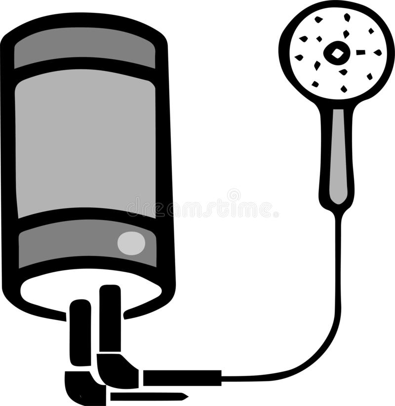 Icône de chauffe-eau sur le fond blanc illustration libre de droits