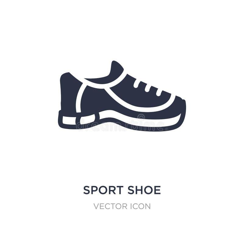 Icône de chaussure de sport sur le fond blanc Illustration simple d'élément de concept de Blogger et d'influencer illustration stock
