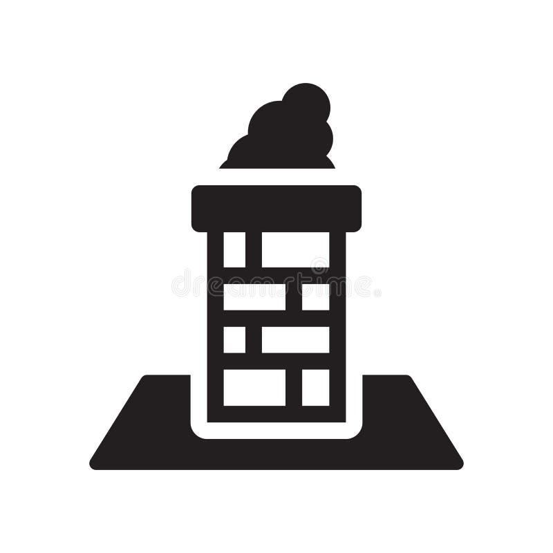 Icône de cheminée  illustration stock