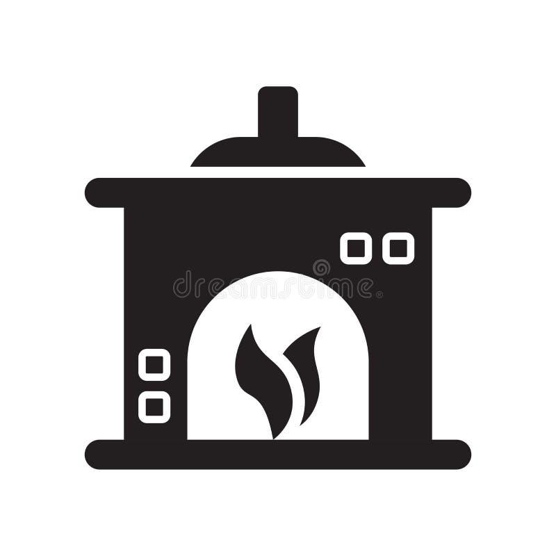 Icône de cheminée d'isolement sur le fond blanc illustration libre de droits