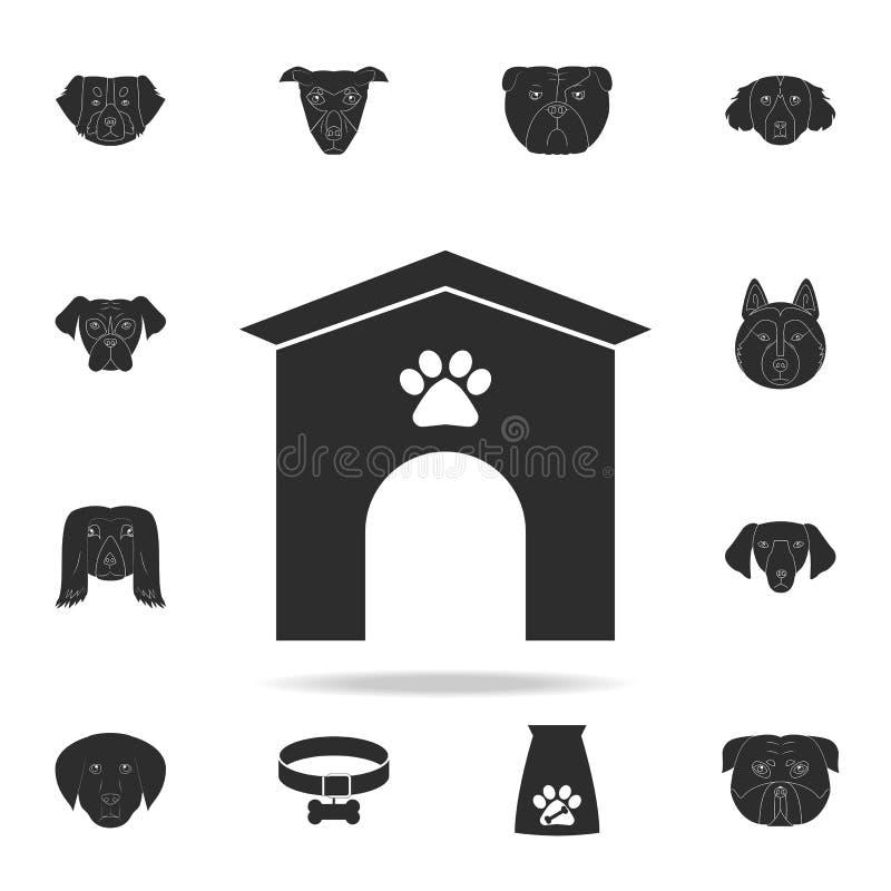 Icône de chenil de chien Ensemble détaillé d'icônes de silhouette de chien Conception graphique de la meilleure qualité Une des i illustration stock