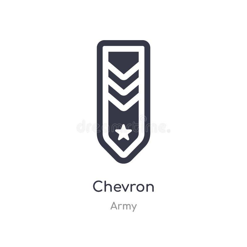 icône de chevron illustration d'isolement de vecteur d'icône de chevron de collection d'armée editable chantez le symbole peut ?t illustration de vecteur