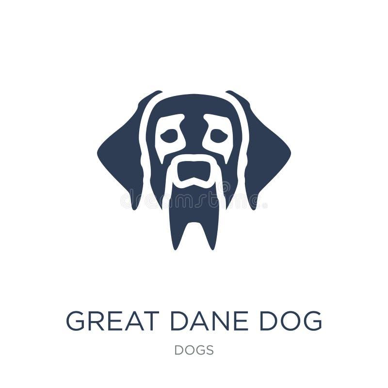 Icône de chien de great dane  illustration stock