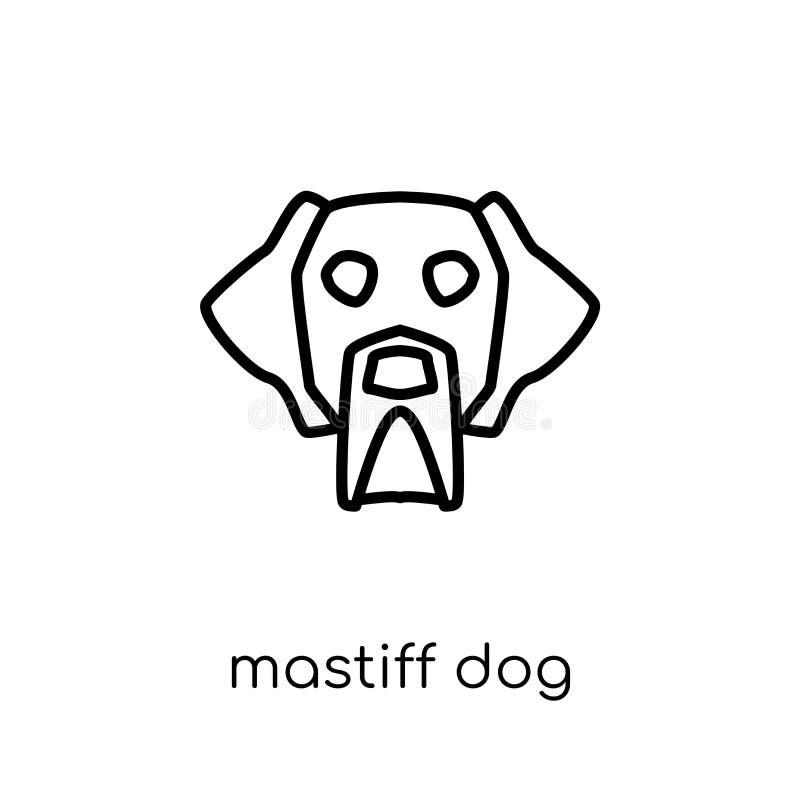 Icône de chien de mastiff Chien linéaire plat moderne à la mode de mastiff de vecteur i illustration de vecteur