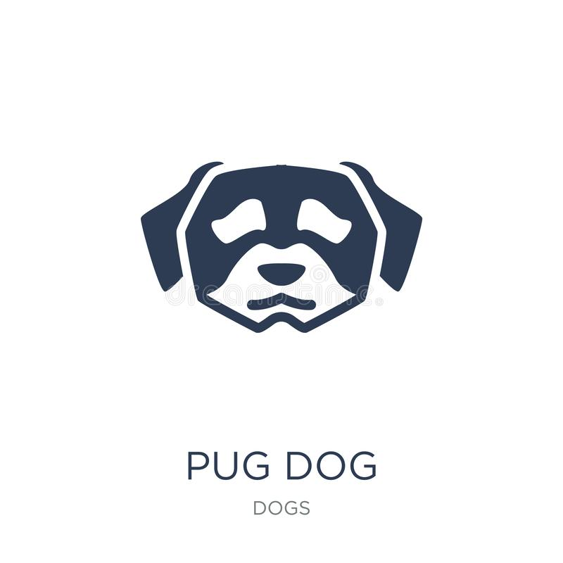 Icône de chien de roquet  illustration stock